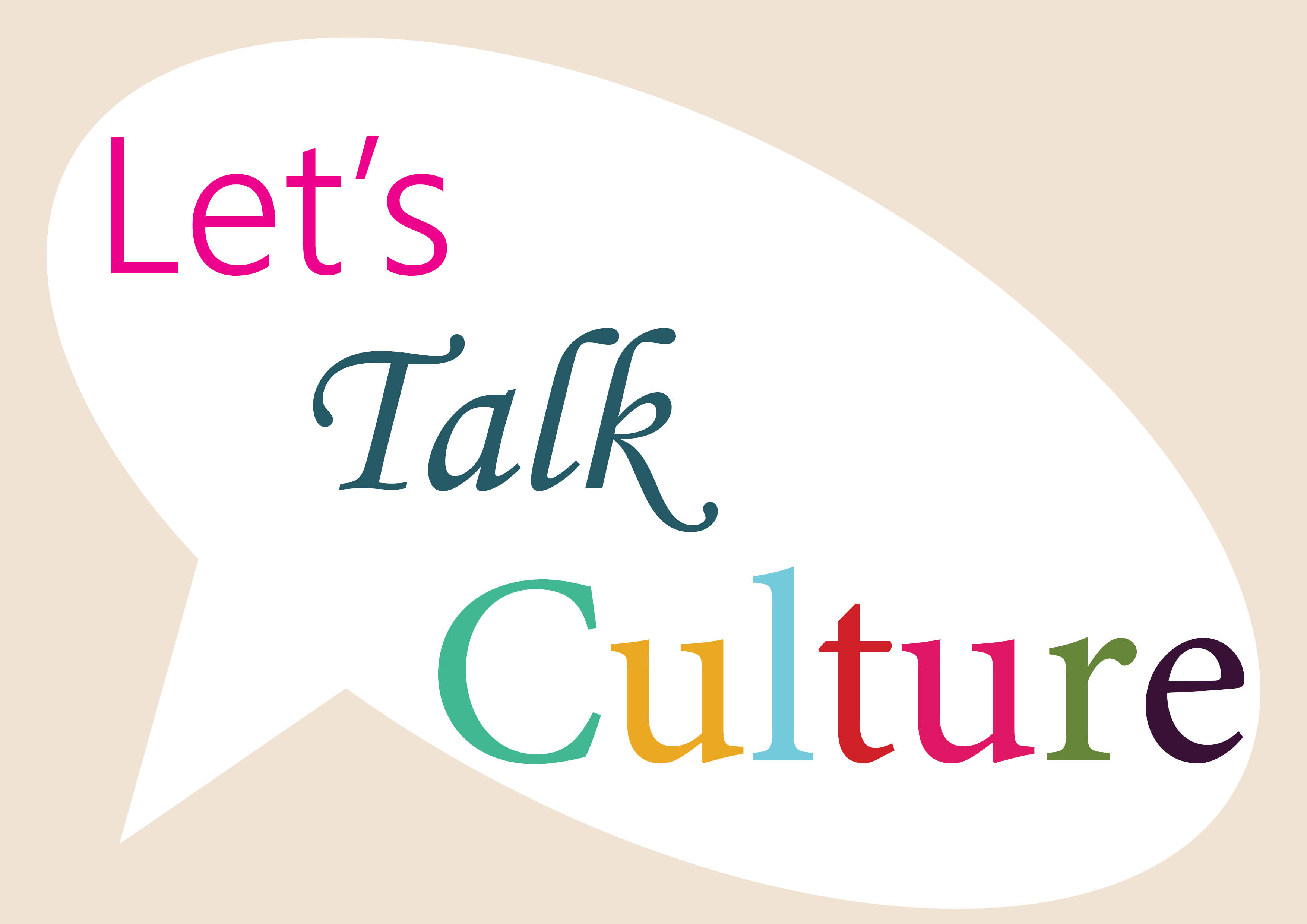 A speech bubble with culture in it